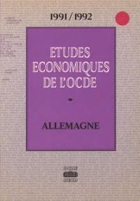 Cover Etudes economiques de l'OCDE : Allemagne 1992