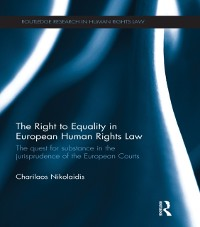 Cover Right to Equality in European Human Rights Law