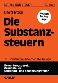 Cover Die Substanzsteuern