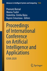 Cover Proceedings of International Conference on Artificial Intelligence and Applications