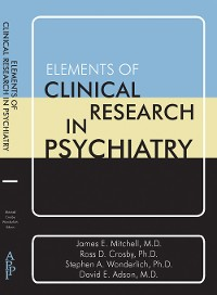 Cover Elements of Clinical Research in Psychiatry