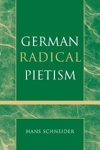 Cover German Radical Pietism