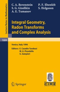 Cover Integral Geometry, Radon Transforms and Complex Analysis