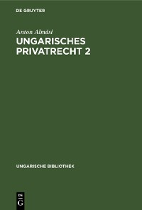 Cover Ungarisches Privatrecht 2
