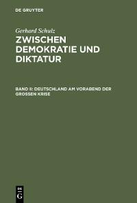 Cover Deutschland am Vorabend der Großen Krise