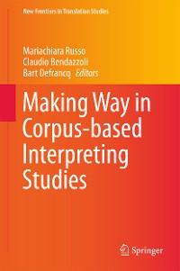 Cover Making Way in Corpus-based Interpreting Studies