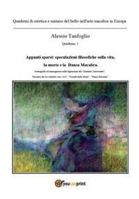 Cover Quaderni di estetica e mimesi del bello nell'arte macabra in Europa. Appunti sparsi: speculazioni filosofiche sulla vita, la morte e la «Danza macabra»