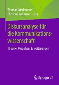 Cover Diskursanalyse für die Kommunikationswissenschaft