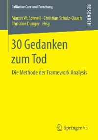 Cover 30 Gedanken zum Tod