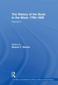 Cover History of the Book in the West: 1700-1800