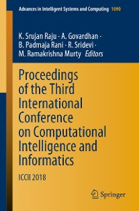Cover Proceedings of the Third International Conference on Computational Intelligence and Informatics