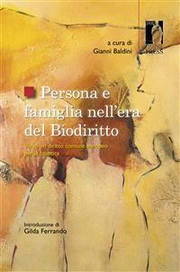 Cover Persona e famiglia nell'era del Biodiritto