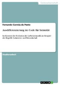 Cover Ausdifferenzierung im Code für Intimität