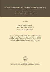 Cover Untersuchung von Bettwasche aus Baumwolle und Polynosic-Fasern im Mischverhaltnis 50/50 auf Verhalten beim Waschen und Trocknen