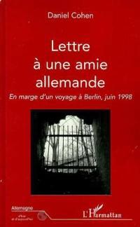 Cover LETTRE A UNE AMIE ALLEMANDE
