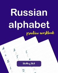 Cover Russian alphabet handwriting