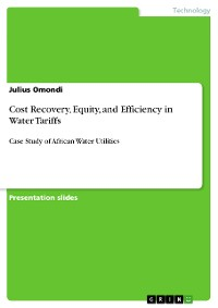 Cover Cost Recovery, Equity, and Efficiency in Water Tariffs