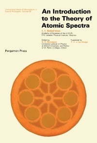Cover Introduction to the Theory of Atomic Spectra