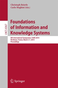 Cover Foundations of Information and Knowledge Systems