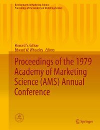 Cover Proceedings of the 1979 Academy of Marketing Science (AMS) Annual Conference
