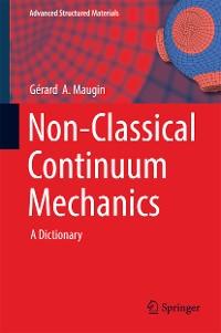 Cover Non-Classical Continuum Mechanics