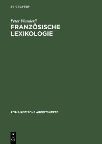 Cover Französische Lexikologie