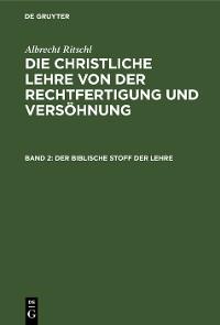 Cover Der biblische Stoff der Lehre
