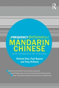 Cover Frequency Dictionary of Mandarin Chinese
