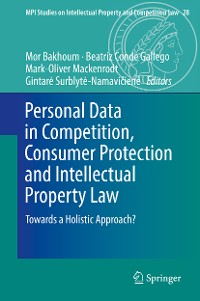 Cover Personal Data in Competition, Consumer Protection and Intellectual Property Law
