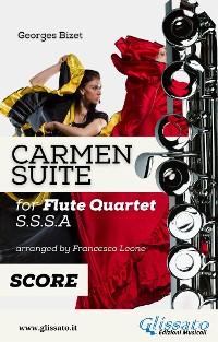 """Cover """"Carmen"""" Suite for Flute Quartet score & parts"""