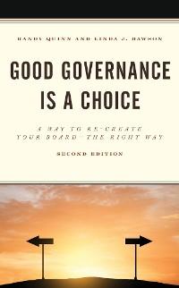 Cover Good Governance is a Choice