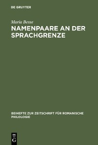 Cover Namenpaare an der Sprachgrenze