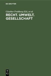 Cover Recht. Umwelt. Gesellschaft