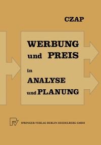 Cover Analyse und Planung von Werbeausgaben und Preispolitik bei konkurrierenden Produkten