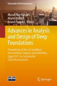 Cover Advances in Analysis and Design of Deep Foundations