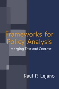 Cover Frameworks for Policy Analysis