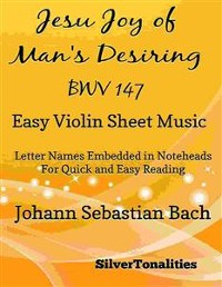 Cover Jesu Joy of Man's Desiring Easy Violin Sheet Music