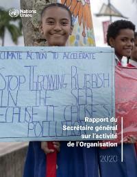 Cover Rapport du Secrétaire général sur l'activité de l'Organisation
