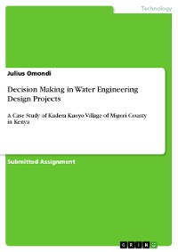 Cover Decision Making in Water Engineering Design Projects