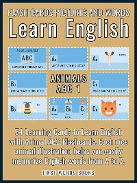 Cover Animals ABC 1 - Flash Cards Pictures and Words Learn English