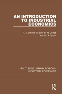 Cover Introduction to Industrial Economics