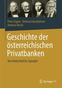 Cover Geschichte der österreichischen Privatbanken