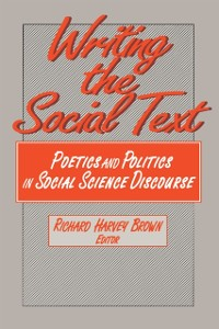 Cover Writing the Social Text