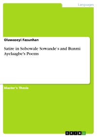 Cover Satire in Sobowale Sowande's and Bunmi Ayelaagbe's Poems