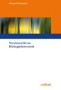 Cover Vereinsrecht im Kleingärtnerverein