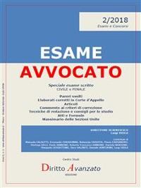 Cover ESAME AVVOCATO 2/2018. Speciale esame scritto