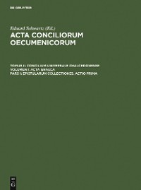 Cover Epistularum collectiones. Actio prima