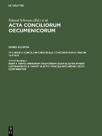 Cover Index verborum Graecorum quae in actis synodi Lateranensis a. 649 et in actis concilii oecumenici sexti continentur