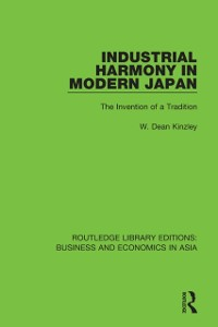 Cover Industrial Harmony in Modern Japan