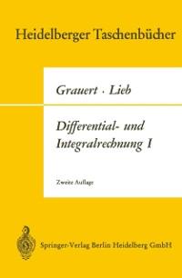 Cover Differential- und Integralrechnung I